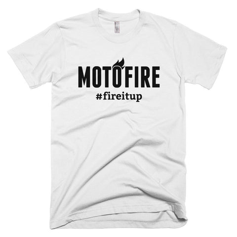 Motofire #fireitup Logo Short sleeve men's t-shirt