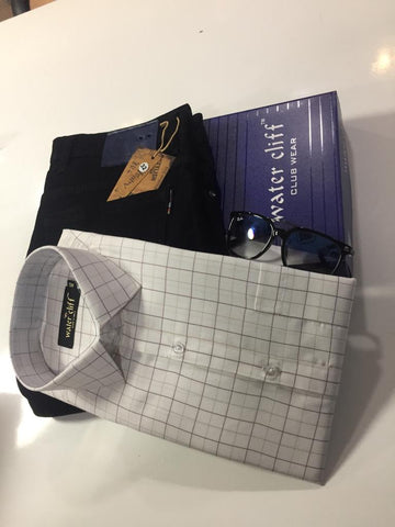 Men's Combo White Check Shirt