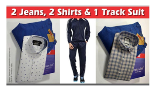 Combo of Branded Tracksuit Plus 2 Shirt and 2 Pants