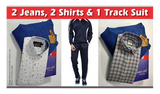 Combo of Branded Tracksuit Plus 2 Shirt and 2 Pants - Discountpur.in