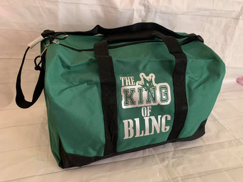 King of Bling Hunter Green Duffel Bag