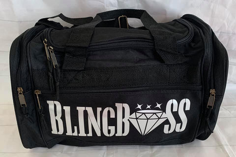 Small black Duffel Bling Boss or Personalized