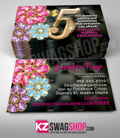 $5 Bling Jewelry Business Cards Style 15 - BLOOM