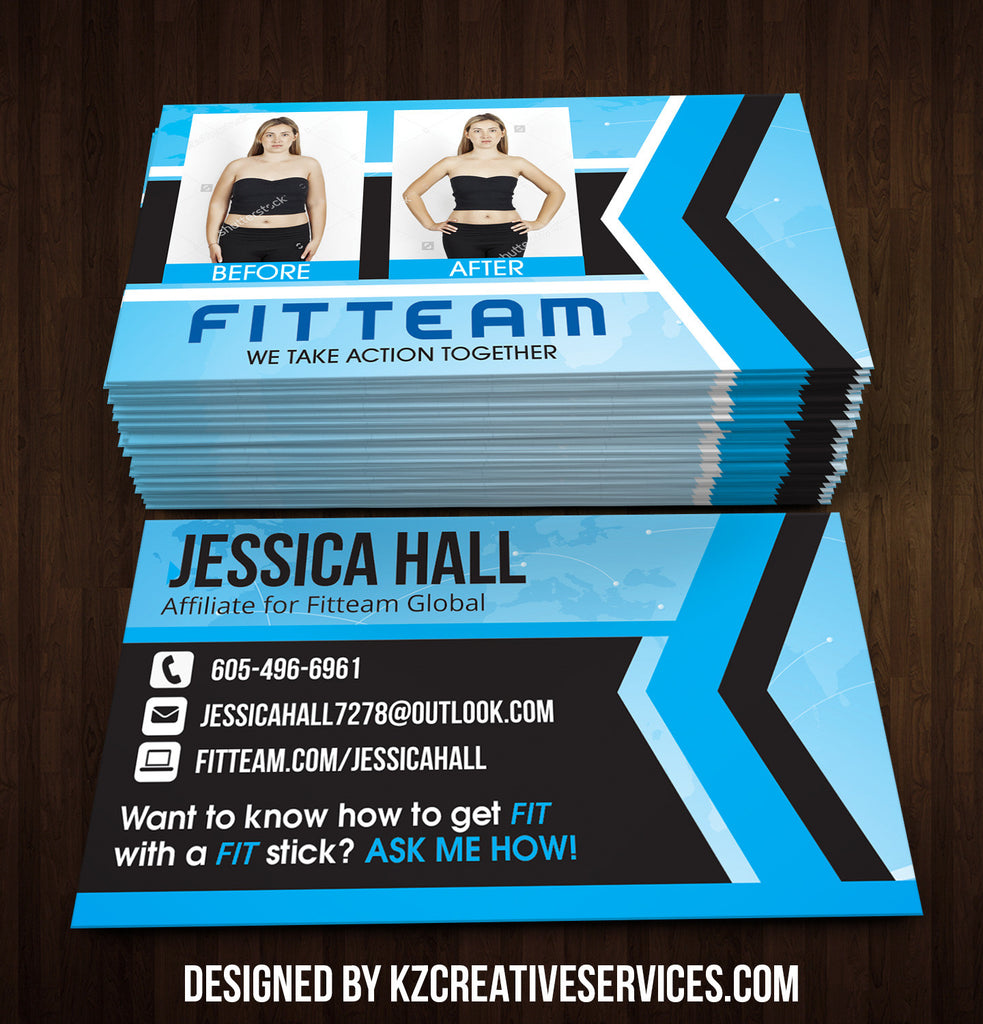 FitTeam GLobal Business Cards Style 2
