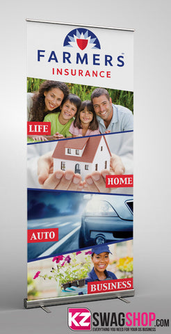 Farmers Insurance Retractable Banner Style 1