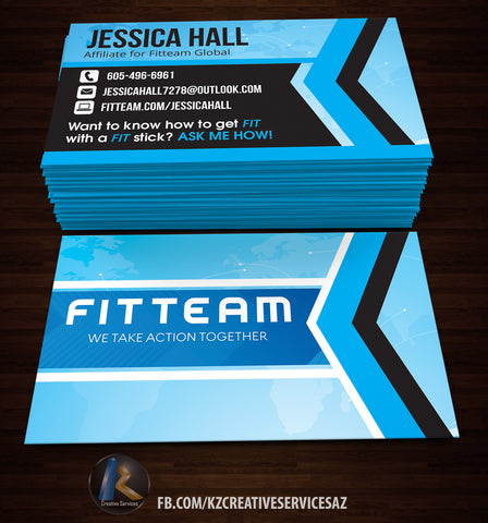 FitTeam GLobal Business Cards Style 3