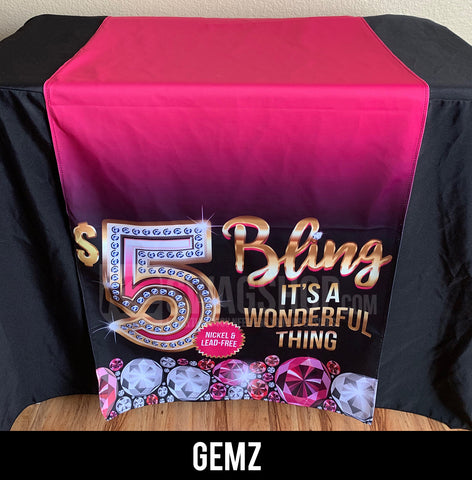 $5 Bling - 24x72 Table Runner - GEMZ
