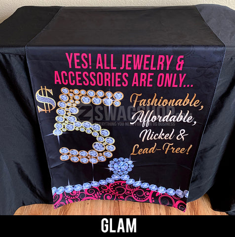 $5 Bling - 24x72 Table Runner - GLAM
