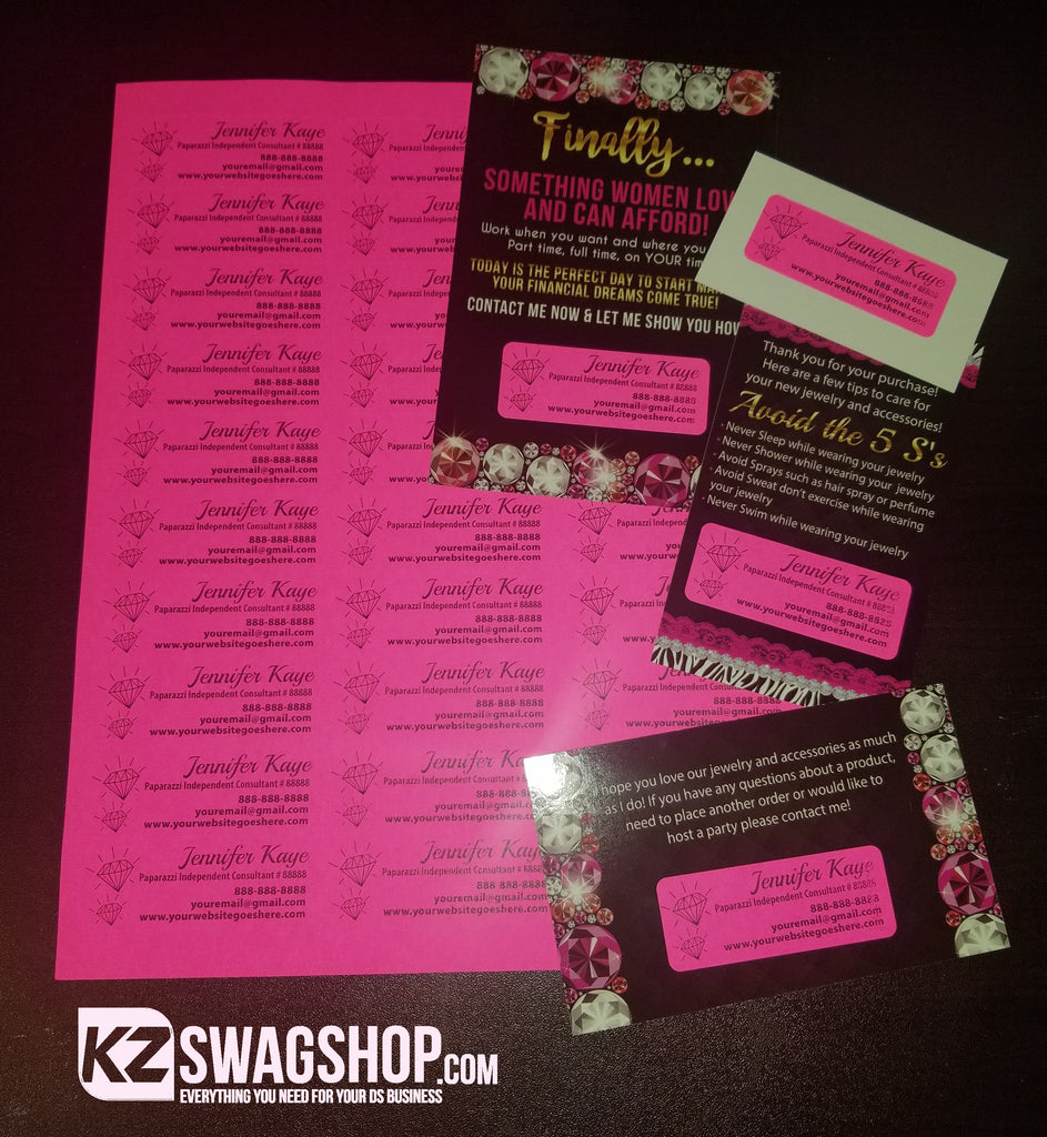 "Bling Labels 1""x2.625 - Hot Pink"