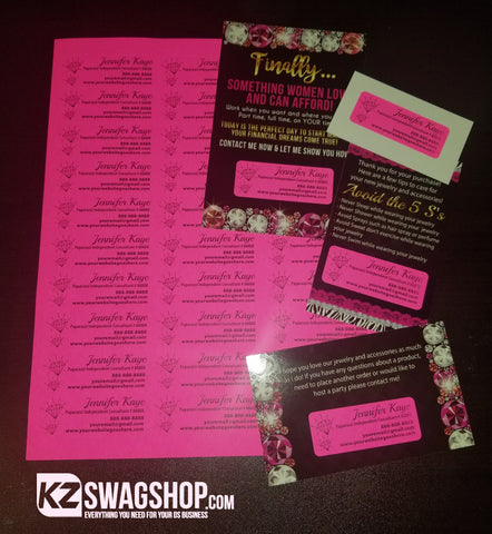 "$5 Bling Labels 1""x2.625 - Hot Pink"