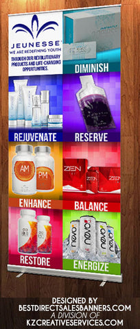 Jeunesse Retractable Banner - Style 4