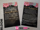 $5 Bling Jewelry Care Card Instructions - ALL DESIGNS - PERSONALIZED