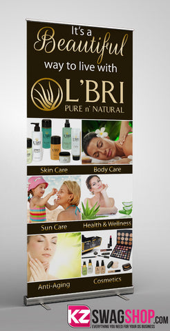 L'Bri-BANNER Retractable Banner - Style 1