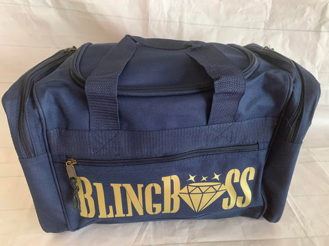 Bling Boss Small Duffel - Navy Blue