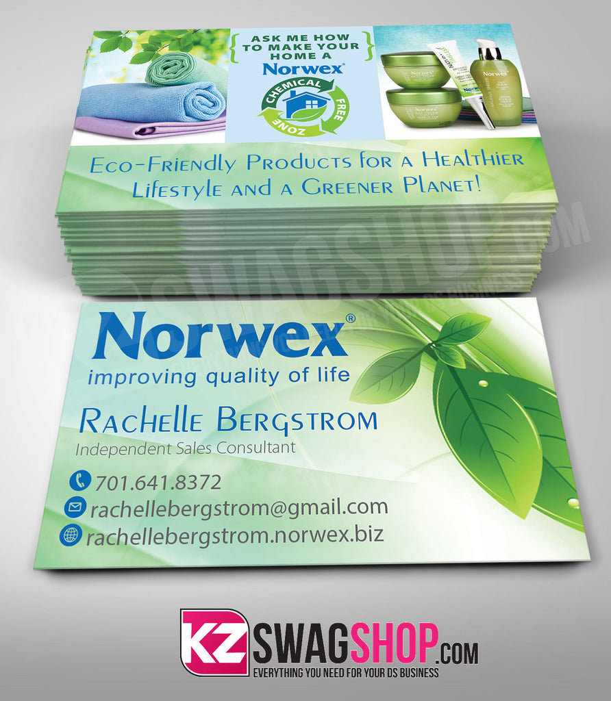 Norwex Business Cards Style 1 Kz Swag Shop