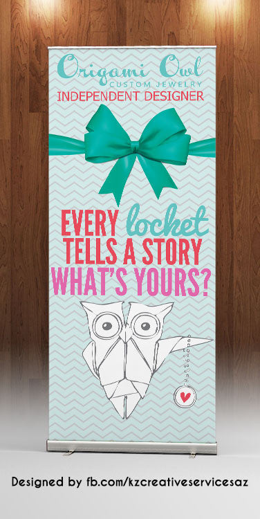 Origami Owl Retractable Banner - Style 2