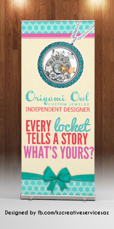 Origami Owl Retractable Banner - Style 1