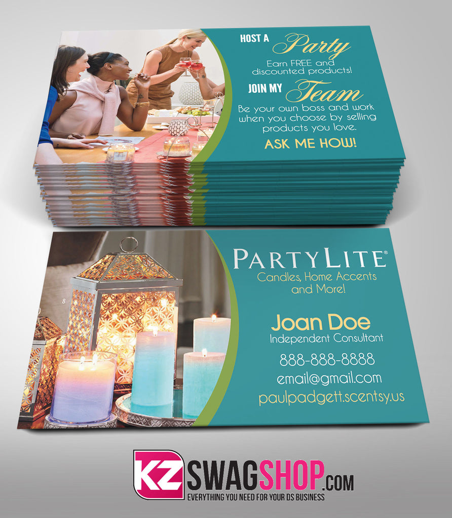 PartyLite Business Cards Style 1 – KZ Swag Shop