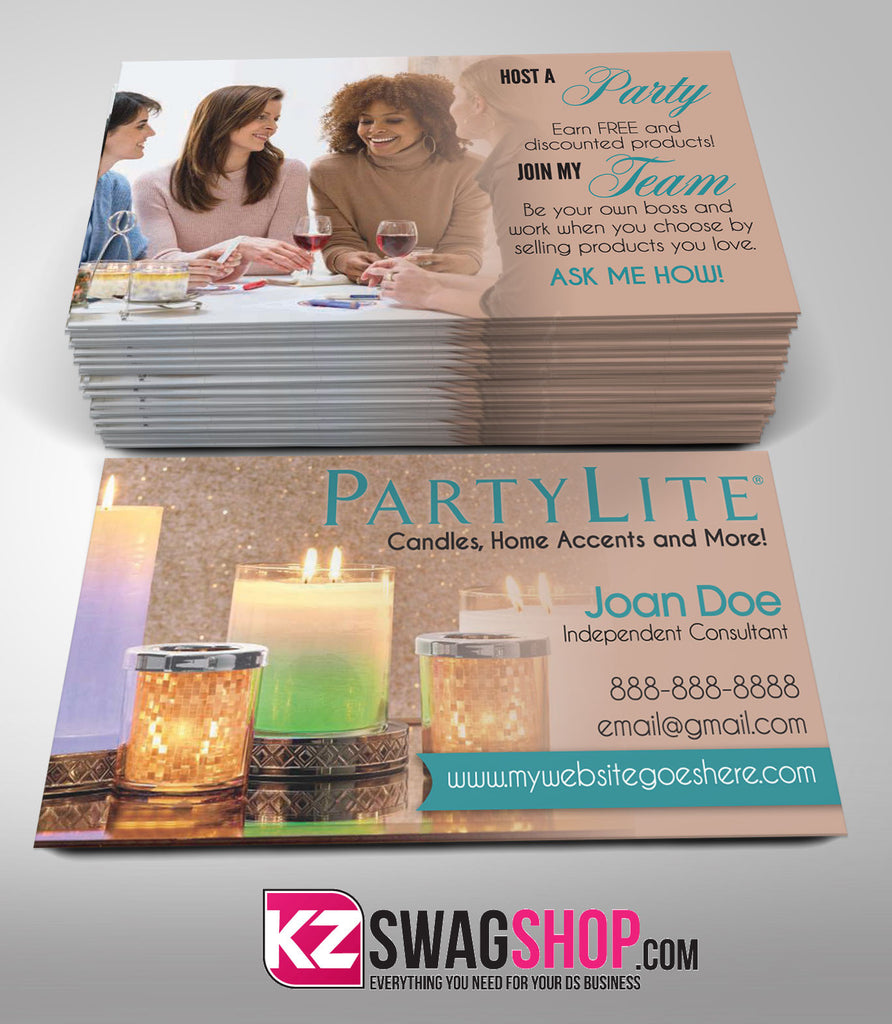 PartyLite Business Cards Style 2 – KZ Swag Shop