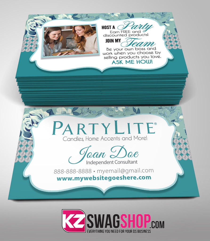 PartyLite Business Cards Style 3 – KZ Swag Shop