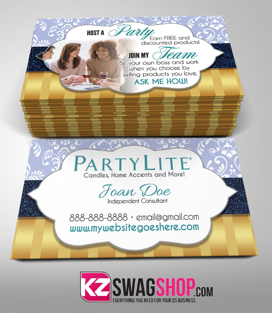 PartyLite Business Cards Style 4 – KZ Swag Shop