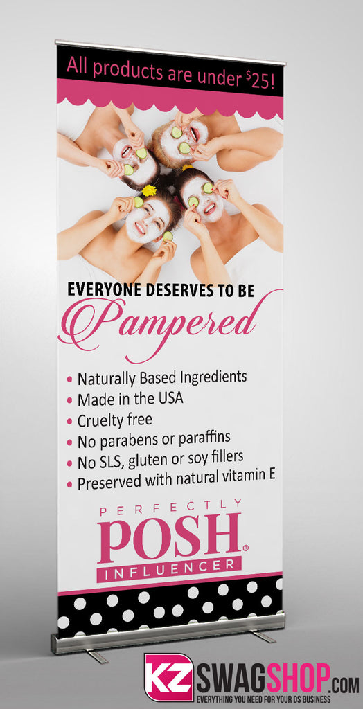 Perfectly Posh Retractable Banner - Style 1