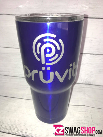 Pruvit Blue 30oz Stainless Steel Tumblers - 2 Designs to choose from!