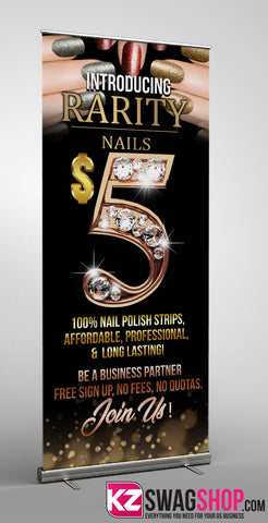 Rarity Nails Retractable Banner Style 1