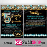$5 Bling - 4x6 Recruiting Blitz Cards BLANK- ALL DESIGNS - PACK OF 100