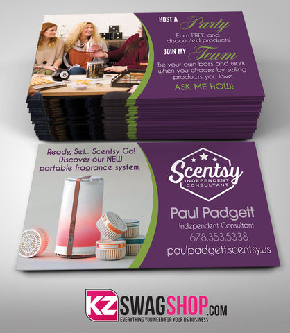 Scentsy Jewelry Business Cards Style 5 KZ Swag Shop