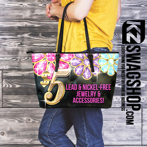 $5 Bling Large Leather* Tote Bag - BLOOM