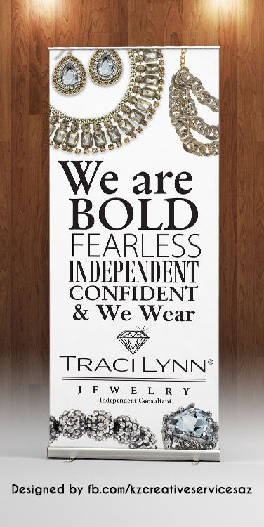 TRACY LYNN Retractable Banner - Style 1