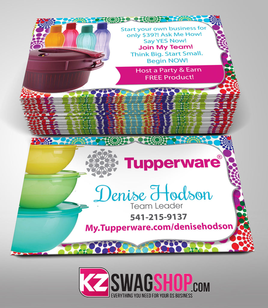 tupperware business cards style 2 - Tupperware Business Cards