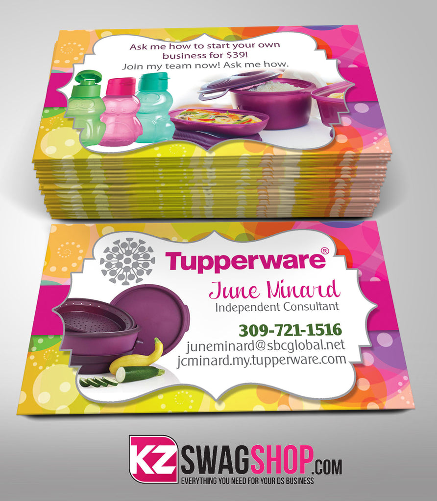 Tupperware business cards free resume samples writing for Tupperware business card templates
