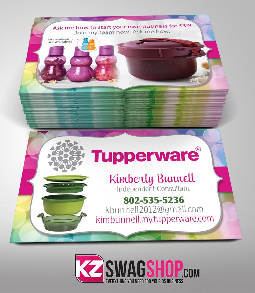 tupperware business cards style 4 - Tupperware Business Cards
