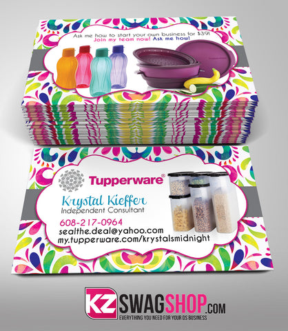 Tupperware Business Cards Style 5