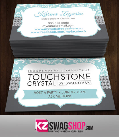 TOUCHSTONE CRYSTAL Business Cards Style 1