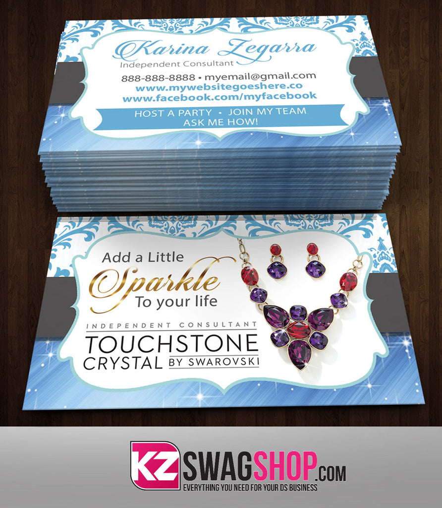 TOUCHSTONE CRYSTAL Business Cards Style 2