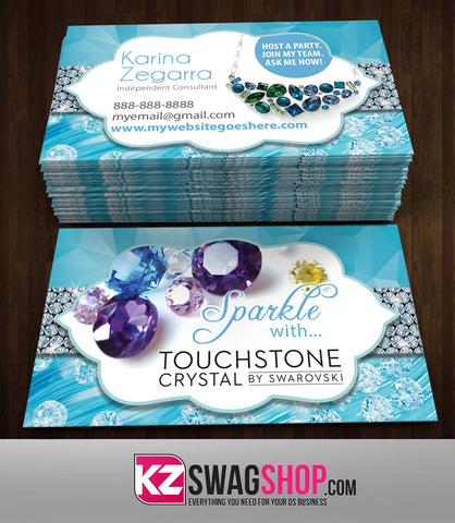 TOUCHSTONE CRYSTAL Business Cards Style 3