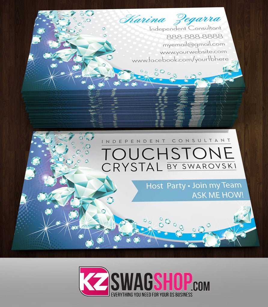Touchstone Crystal Business Cards Style 4 Kz Swag Shop
