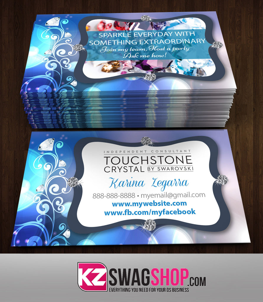 TOUCHSTONE CRYSTAL Business Cards Style 5 – KZ Swag Shop