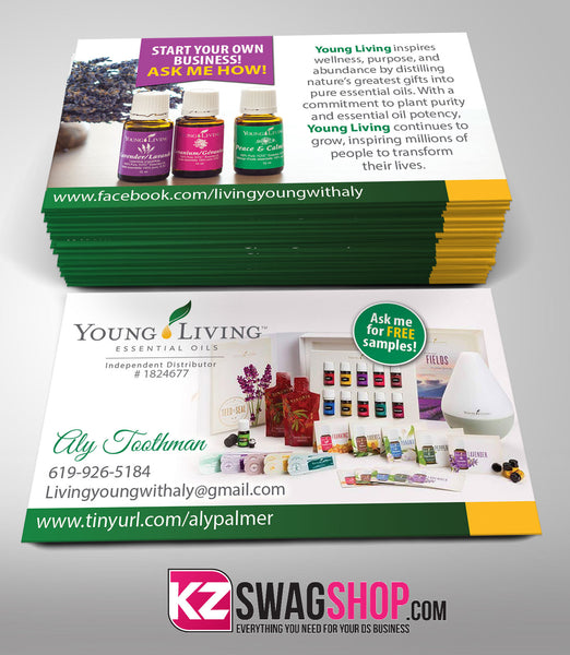 Young Living Business Cards Style 1 Kz Swag Shop