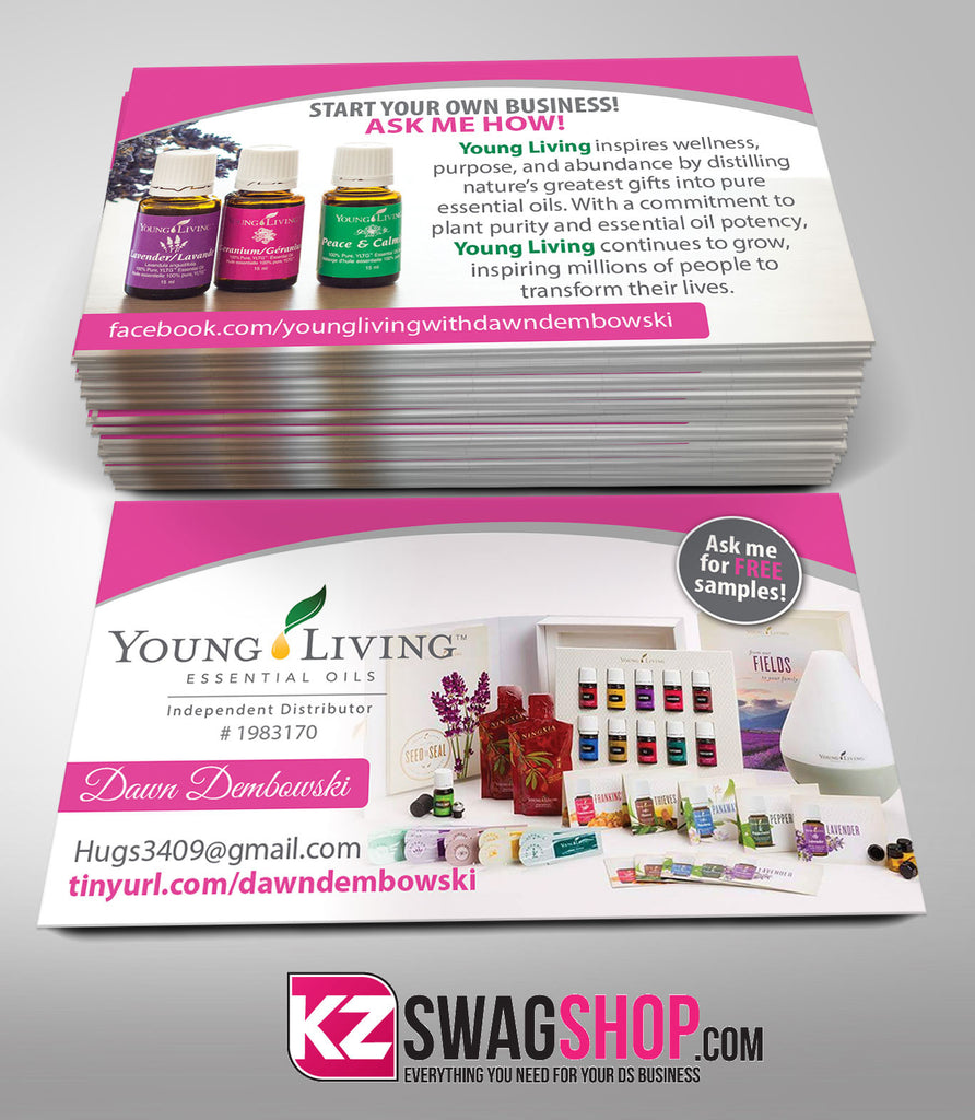 YOUNG LIVING Business Cards Style 3 – KZ Swag Shop