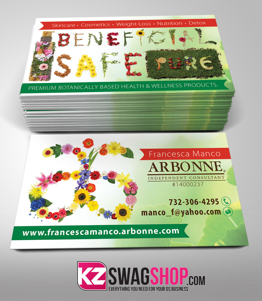 arbonne business cards style 4 – kz swag shop