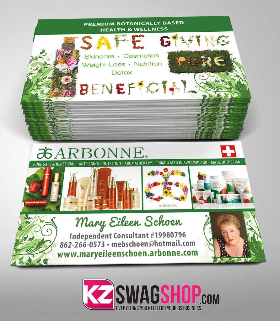 Arbonne Business Cards Style 2 KZ Swag Shop