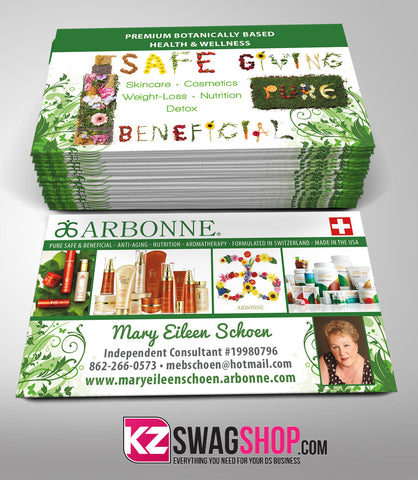 Arbonne Business Cards Style 2