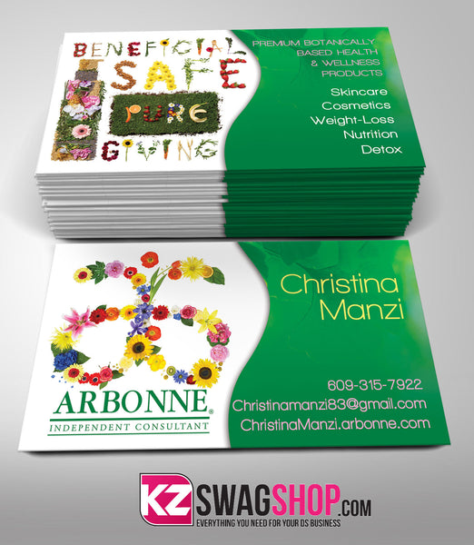 arbonne business cards style 3  u2013 kz swag shop
