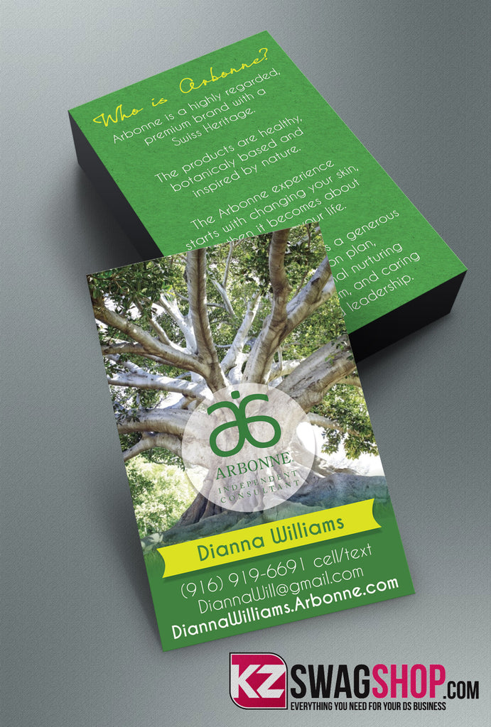 Arbonne Business Cards Style 4 KZ Swag Shop