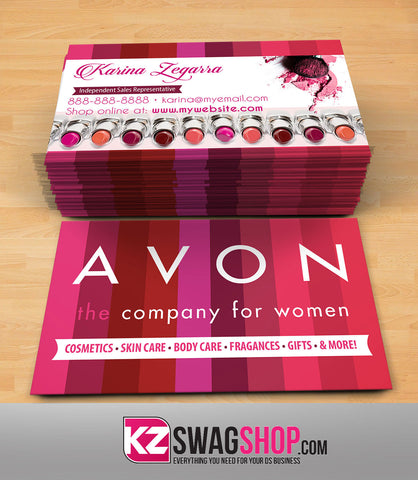 Avon tagged business cards kz swag shop avon business cards style 1 colourmoves