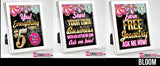 Bling - 8x10 Table Signs Bundle